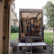 Loading the van during a house removal