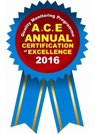 ANNUAL CERTIFICATE OF EXCELLENCE